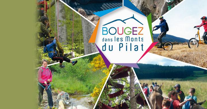 """<p>""""Bougez dans les Monts du Pilat"""" avec <strong>des activités de plein-air</strong></p>"""