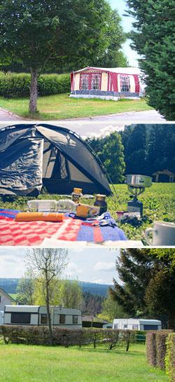 camping municipal dans le Pilat