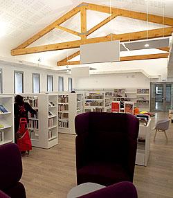 Nouveaux locaux de la médiathèque de Saint-Genest-Malifaux
