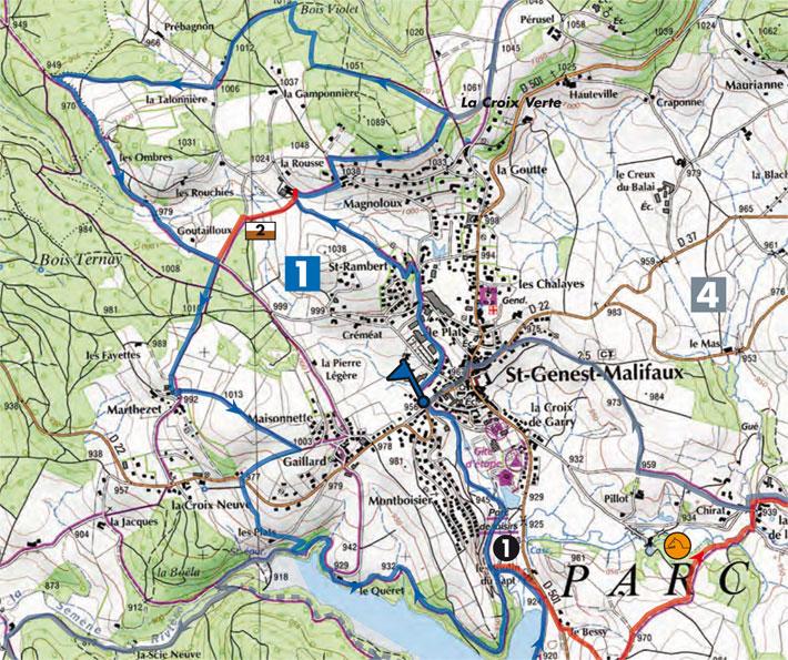 plan sentier n°1 Le Bois Ternay