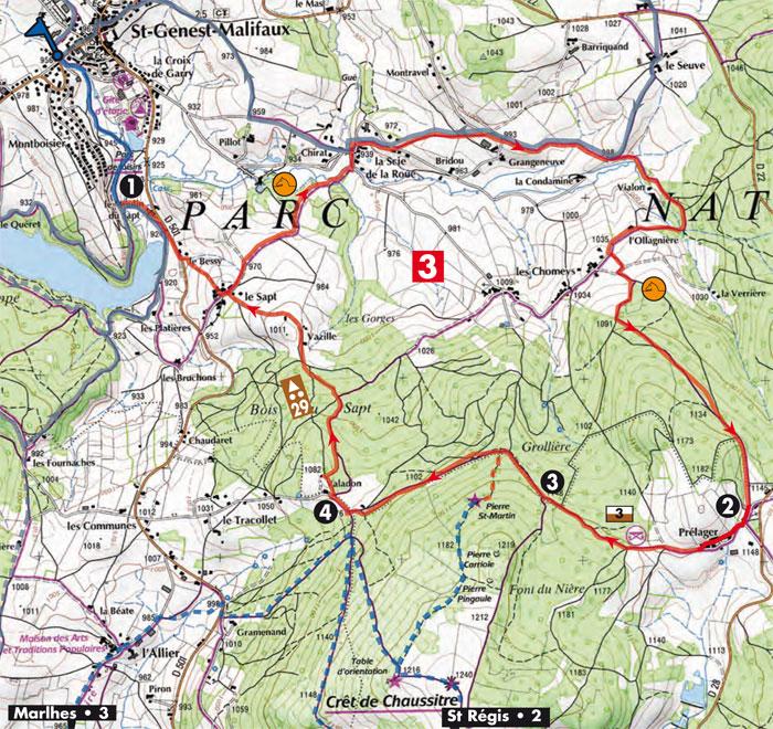 plan sentier n°3 La Pierre Saint-Martin