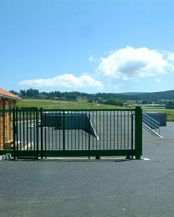 site de tri et de dépôt des déchets