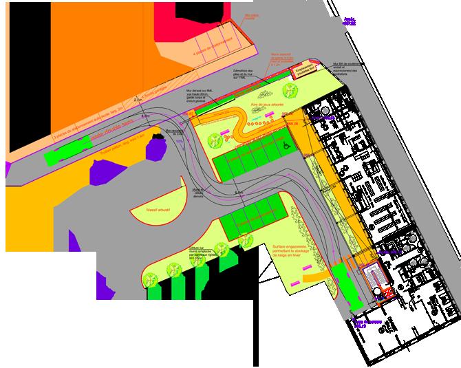 plan du nouvel aménagement de l'impasse de la mairie