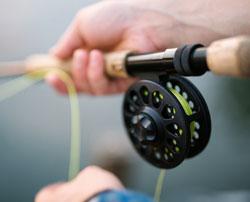 pêche dans la rivière la Semène