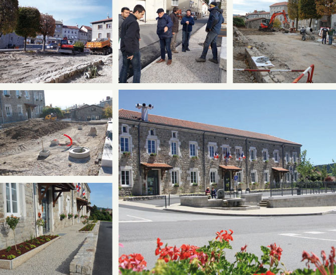 aménagement de la place de la mairie