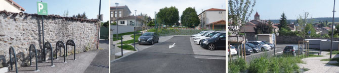 aménagement d'un cheminement piéton et d'un parking rue Saint-Rambert