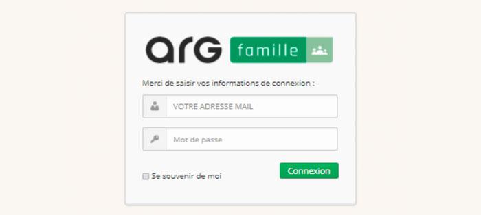 page de connexion au portail famille